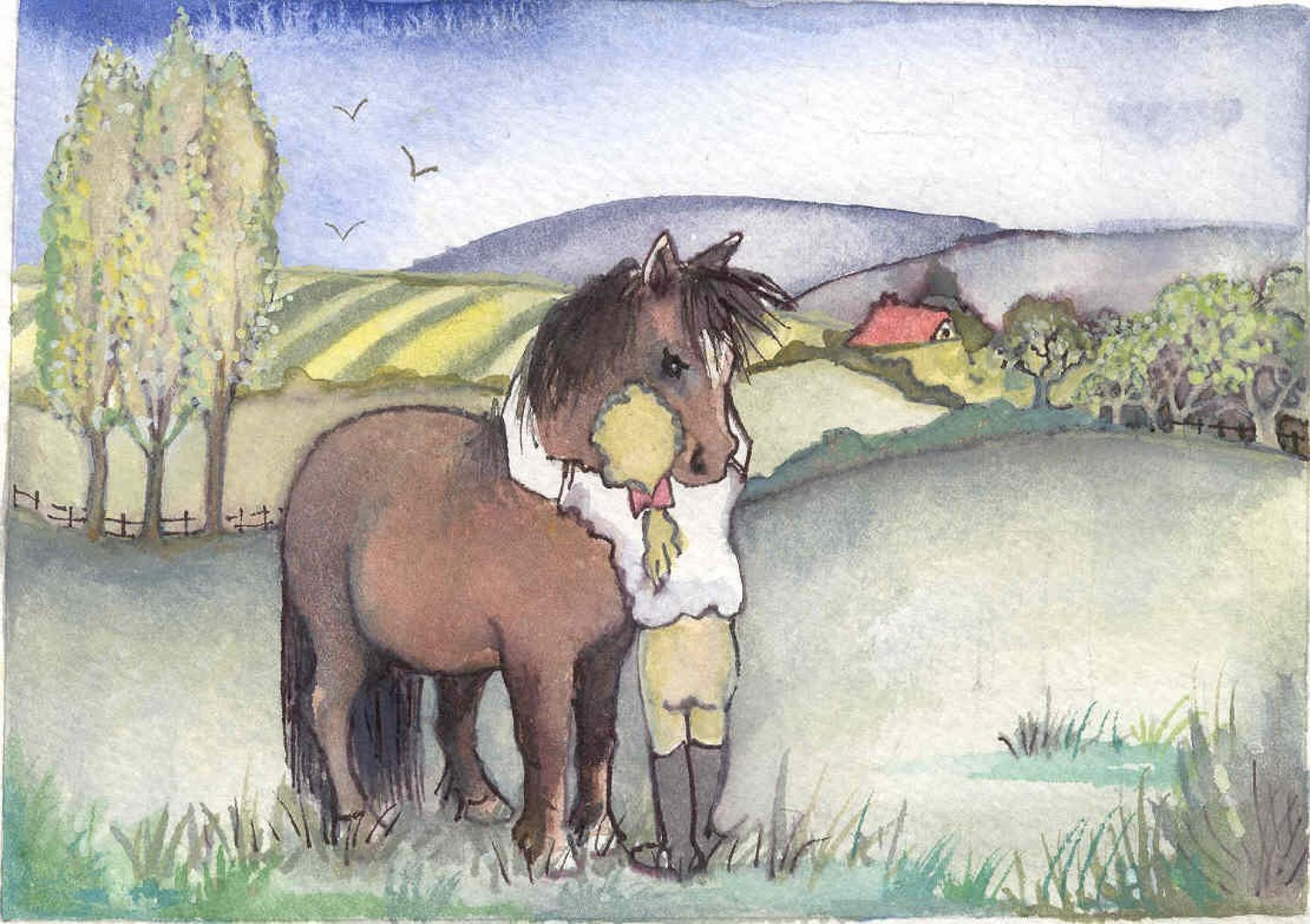 A hug for my horse
