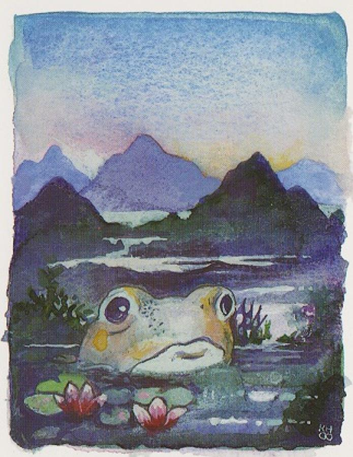 Giant frog of the purple swamp