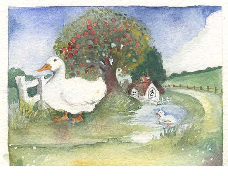 Duck & apple tree