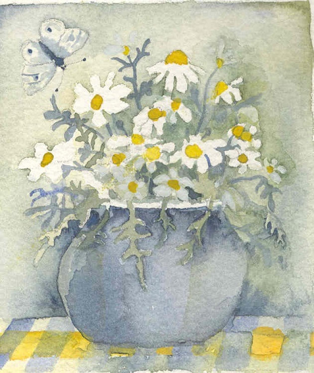 Marguerites & butterfly
