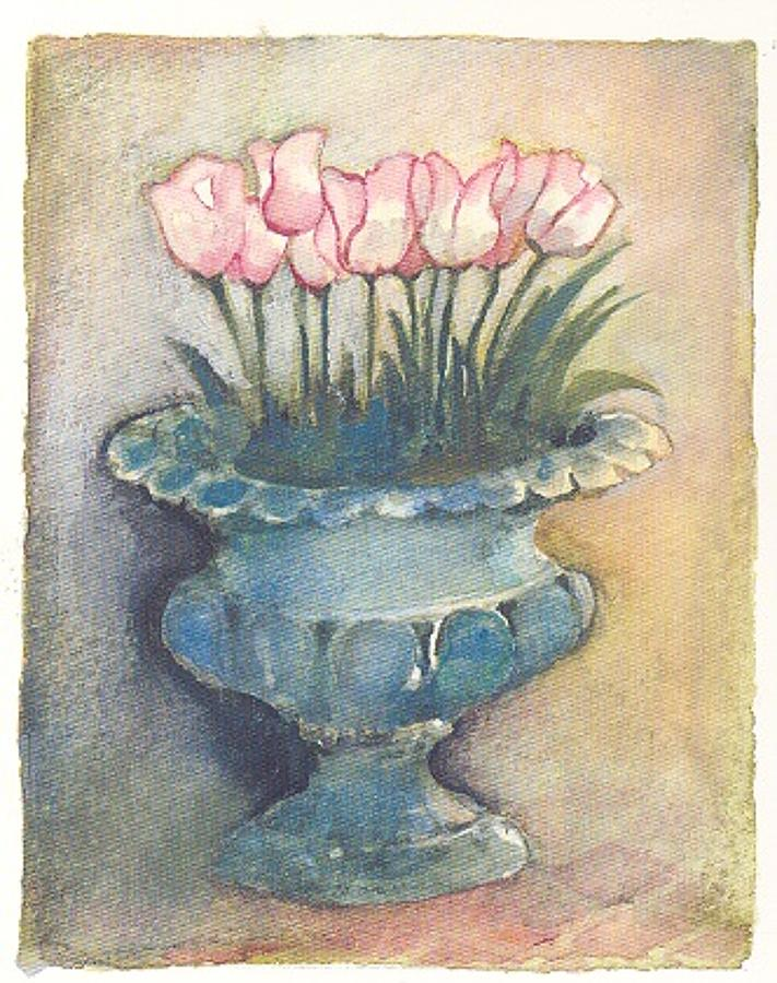 Tulips in an urn