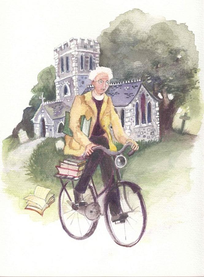Vicar on a bike