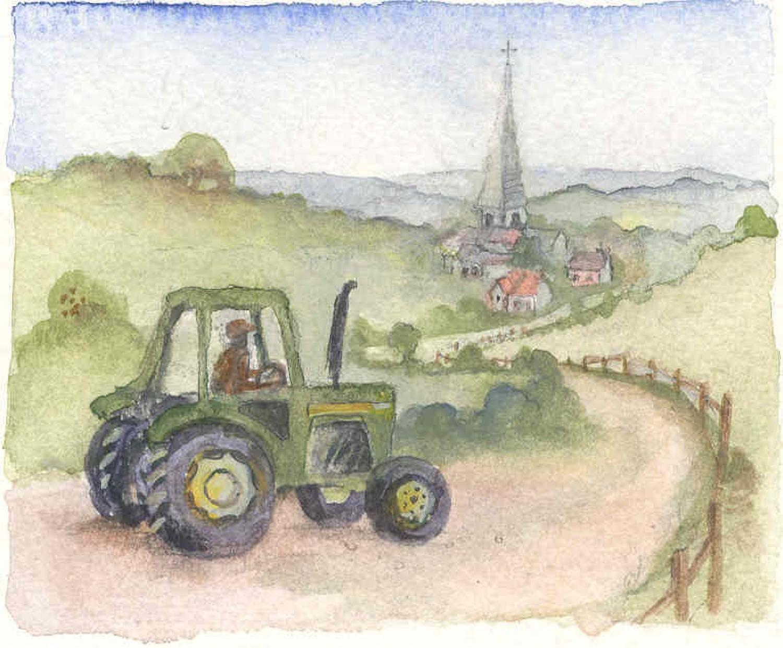 John Deere & village