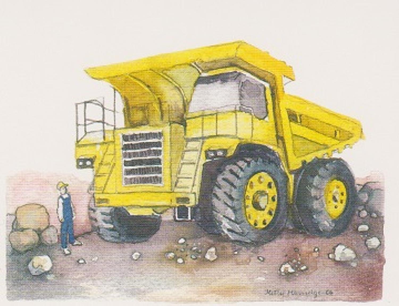Enormous dumper truck