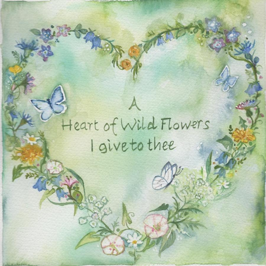 Heart of wild flowers