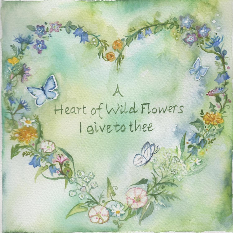 Heart of wild flowers