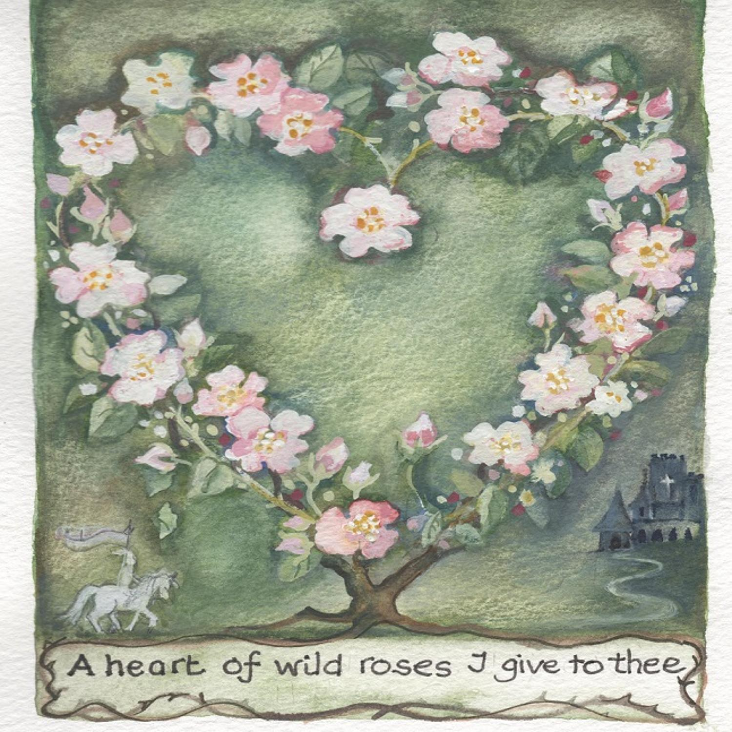 Heart of wild roses