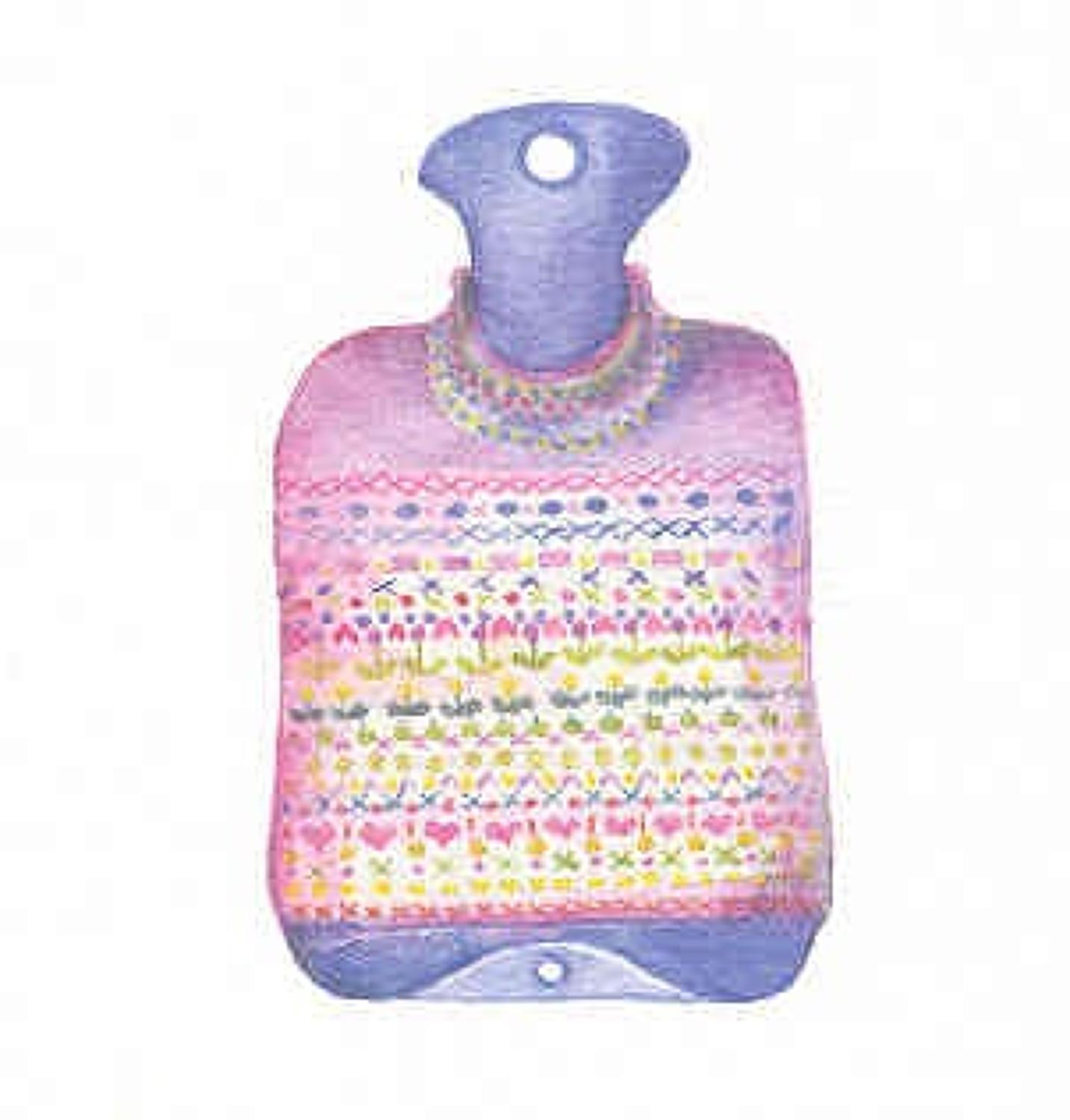 Cosy hot water bottle
