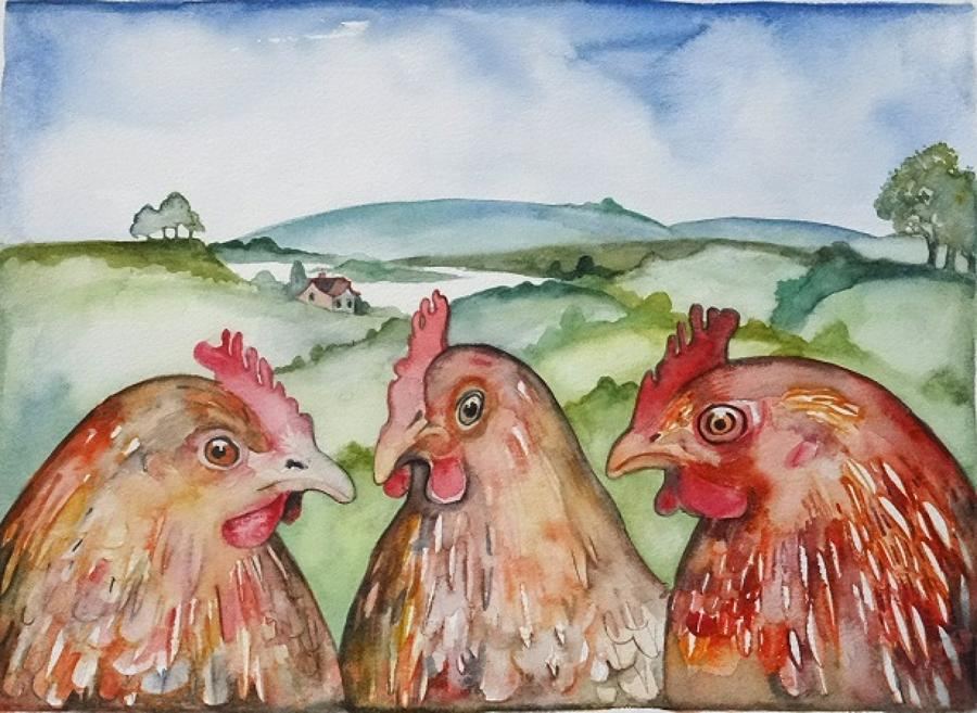 When shall we three meet again (three hens)