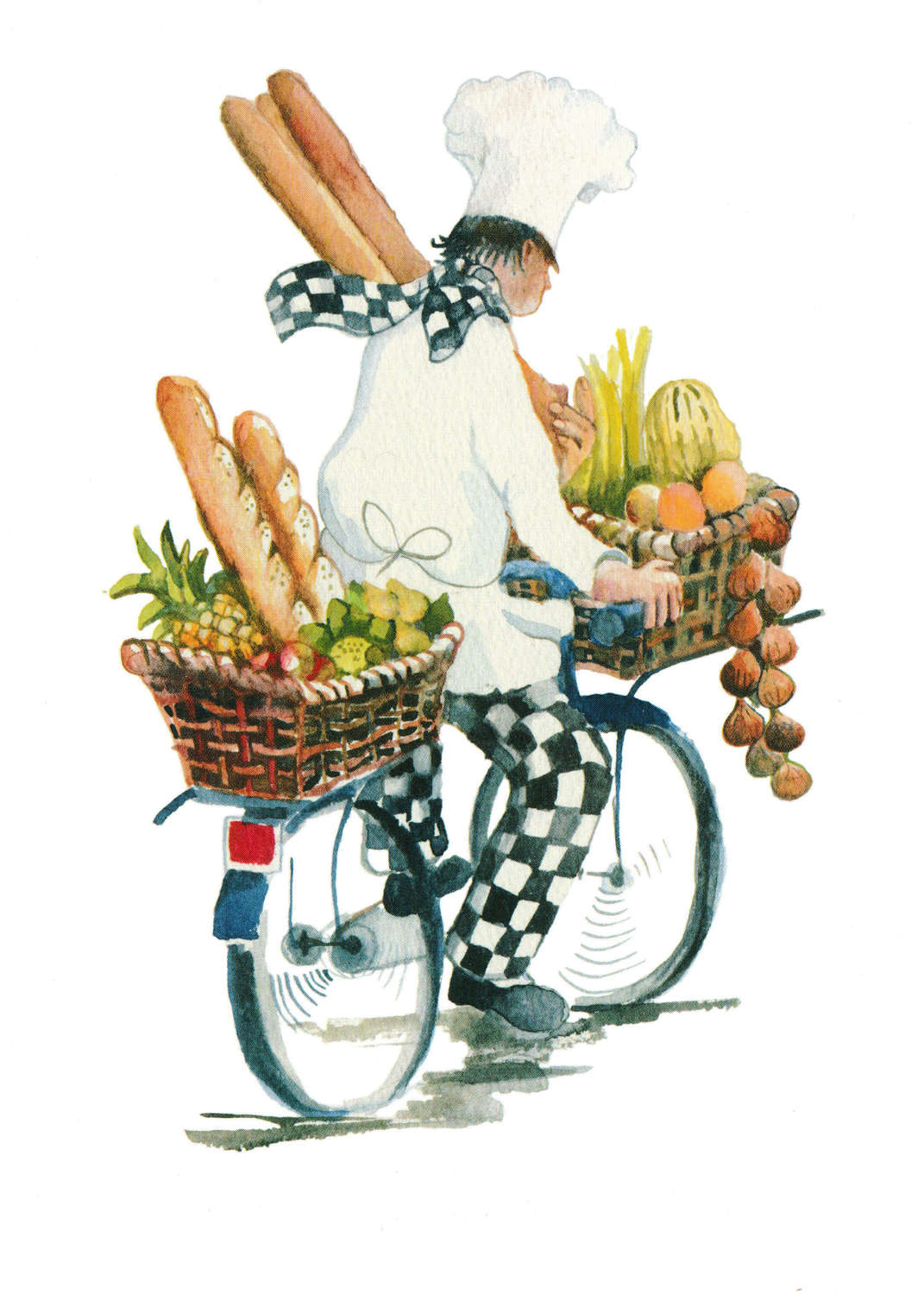 Chef on a bicycle