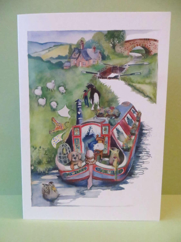Horse-drawn barge