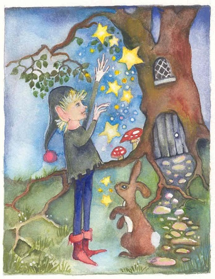 Elf juggling the stars