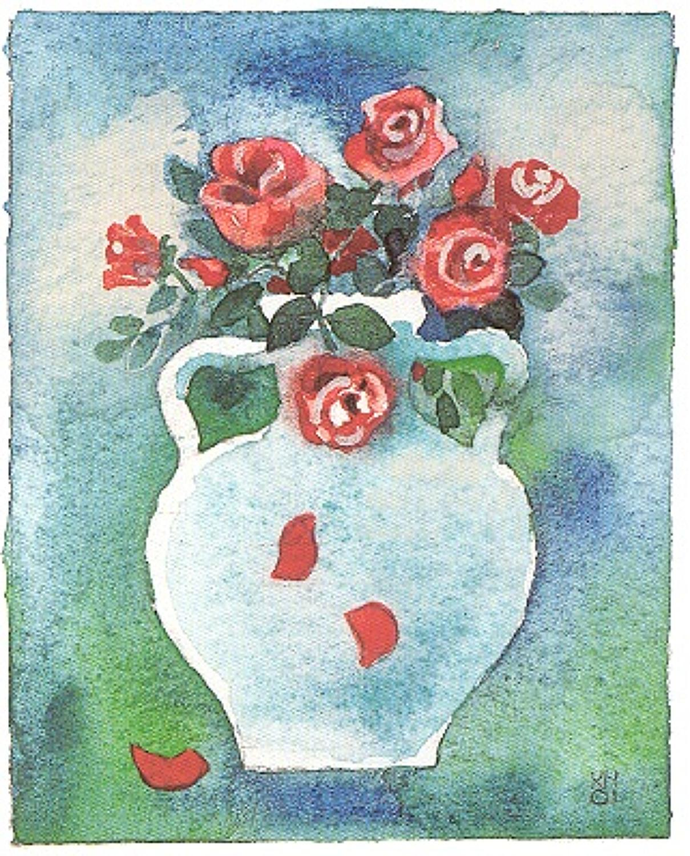 Greek urn & roses