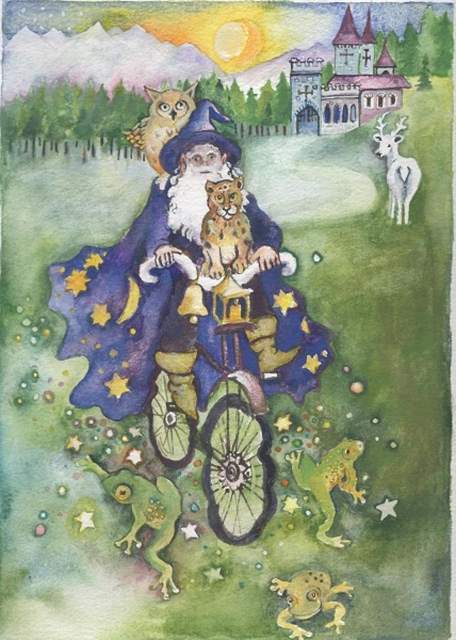 Wizard on a bike