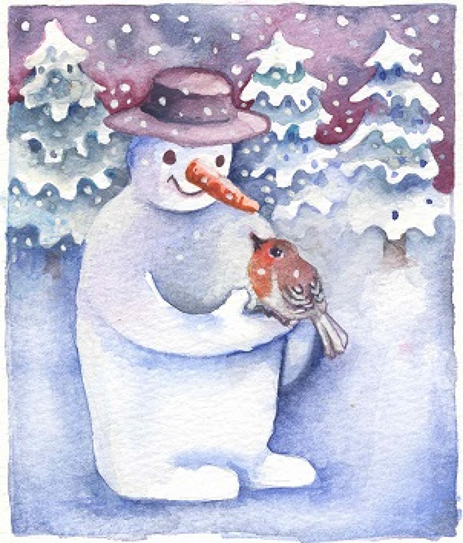 Snowman & Robin