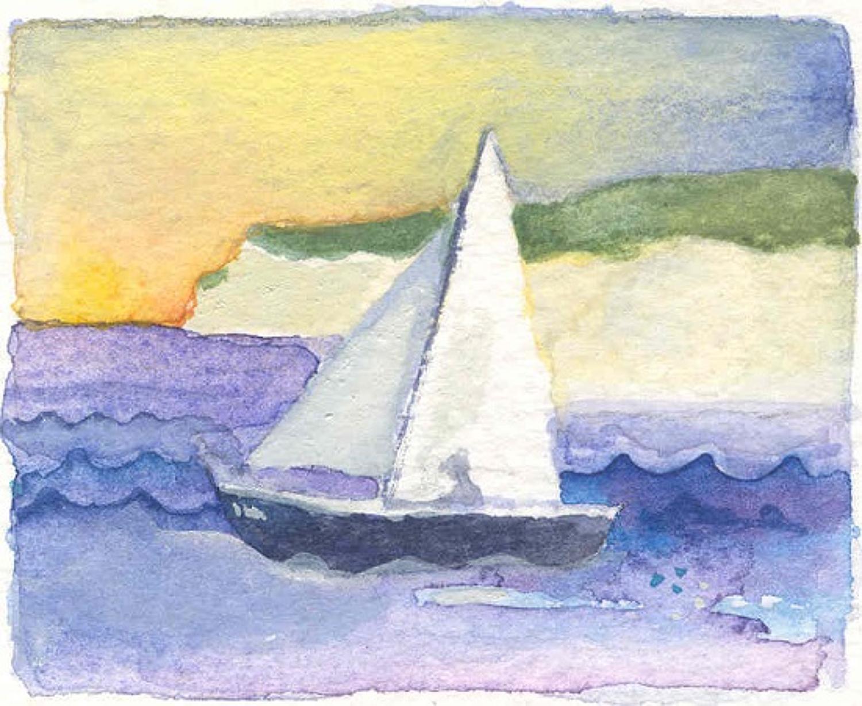 Yacht & cliffs