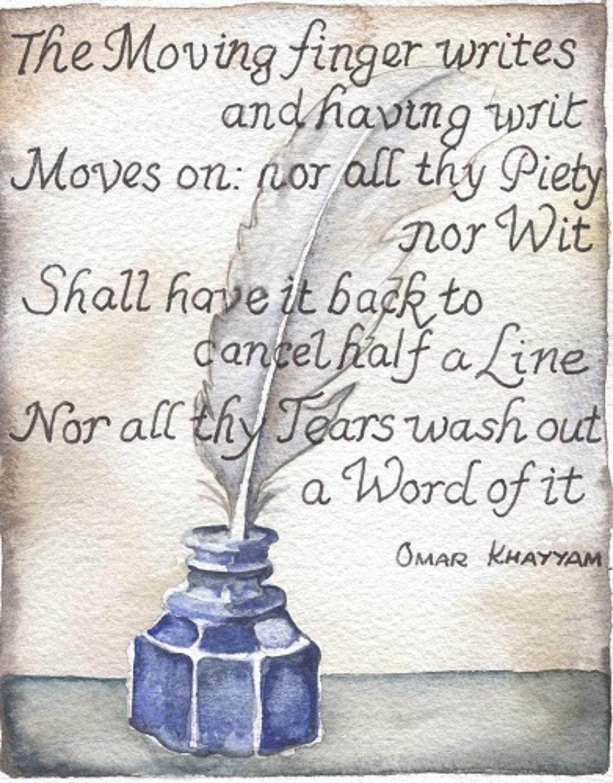 Quill, ink & Omar Khayyam