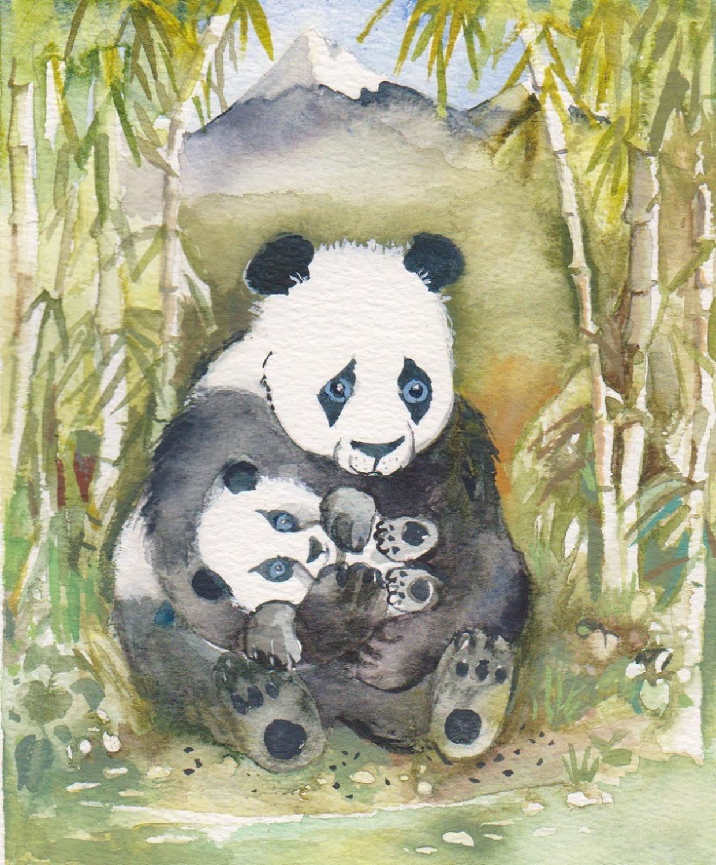 Giant panda & cub